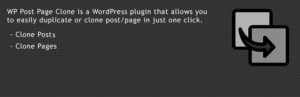 WP Post Page Clone