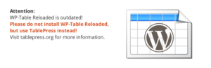 WP-Table Reloaded