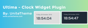 Ultima – WordPress Clock Widget Plugin